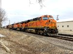 BNSF 7250 is west bound with a manifest